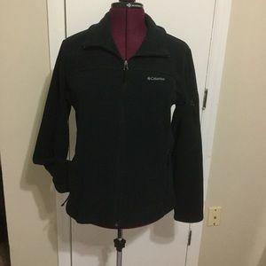EUC Columbia Zip Up Fleece Sport  Black Jacket